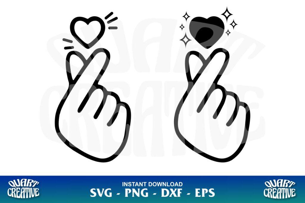 finger heart svg