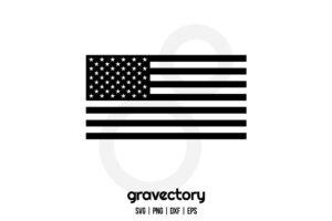 Black American Flag SVG Free