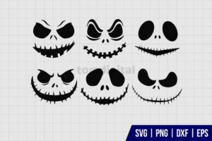 Halloween Ghost Face SVG