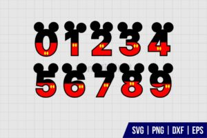 Mickey Mouse Number SVG
