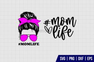 Mom Life Bun SVG