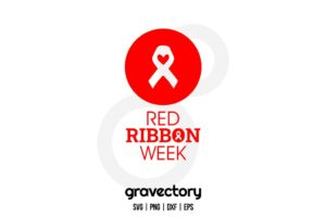 Red Ribbon Week SVG