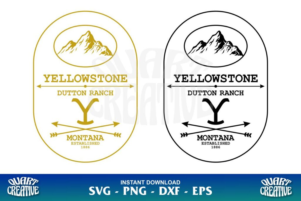 YELLOWSTONE DUTTON RANCH SVG