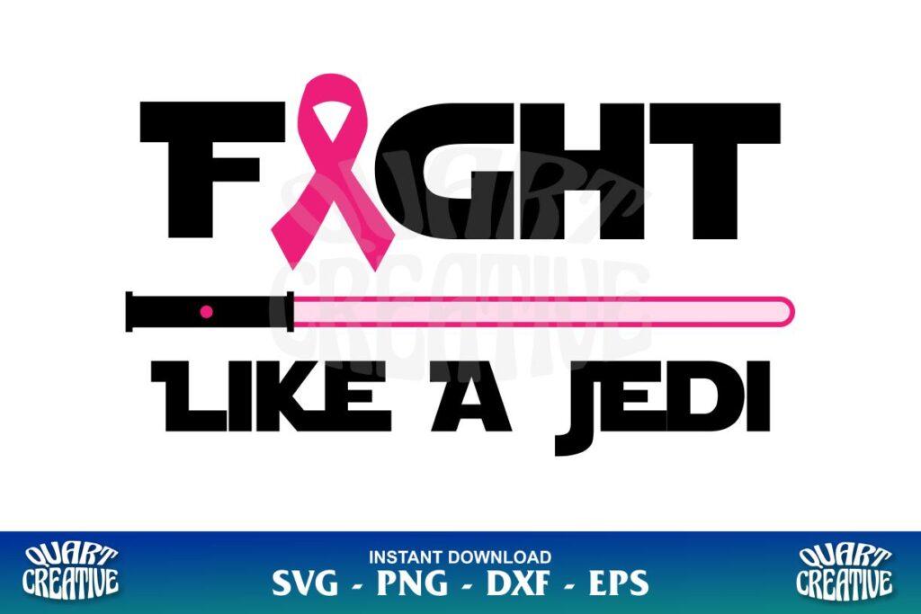 fight like a jedi ribbon svg