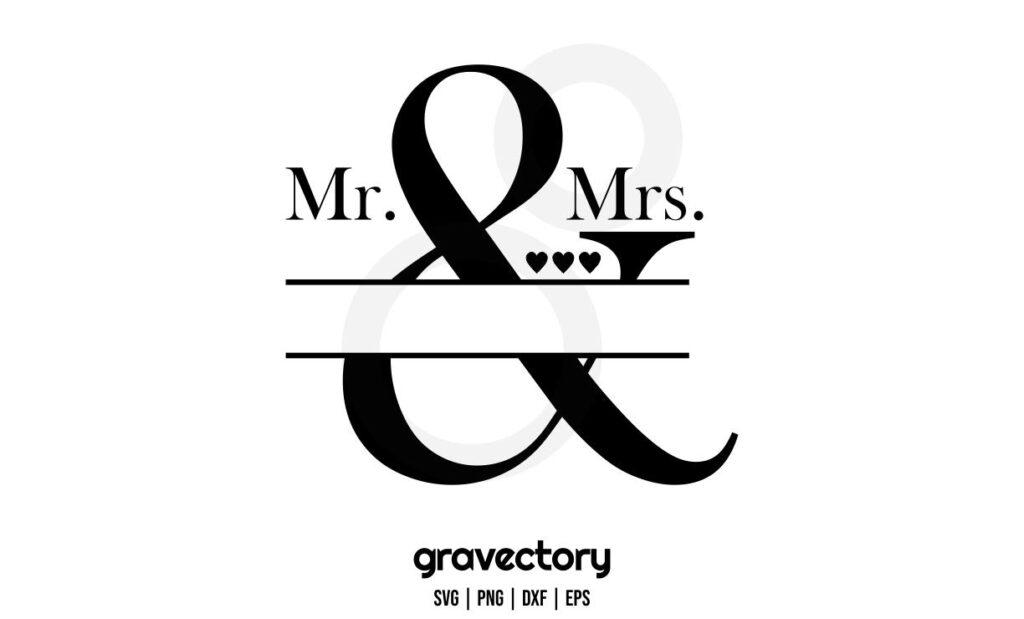 mr and mrs monogram svg Mr And Mrs Monogram SVG