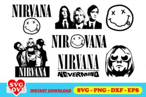nirvana svg bundle