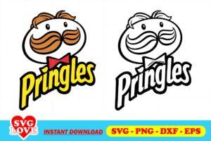 pringles logo svg cut files