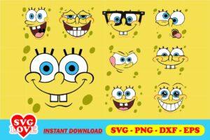 spongebob face svg