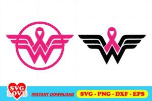 superhero breast cancer svg
