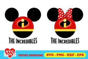 the incredibles mickey head svg